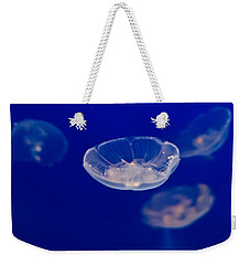 Weekender Tote Bag featuring the photograph Ufo-moon Jellyfishes by Eti Reid