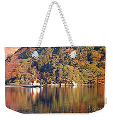 Weekender Tote Bag featuring the photograph Ullswater Steamer by Linsey Williams