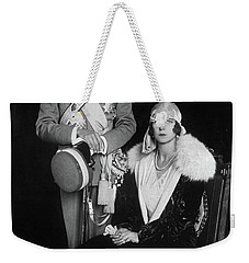 Weekender Tote Bag featuring the photograph Umberto II And Marie Jose by Granger