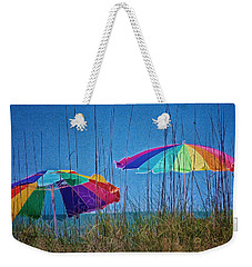Umbrellas On Sanibel Island Beach Weekender Tote Bag