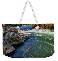 Weekender Tote Bag featuring the photograph Umpqua River by David Millenheft