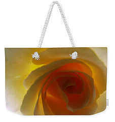 Weekender Tote Bag featuring the photograph Unaltered Rose by Robyn King