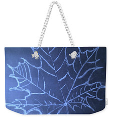 Weekender Tote Bag featuring the drawing Uncertaintys Leaf by Jason Padgett