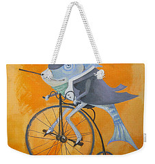 Weekender Tote Bag featuring the painting Uncle Bernard by Marina Gnetetsky