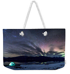 Weekender Tote Bag featuring the photograph Under Big Skies by Aaron Aldrich