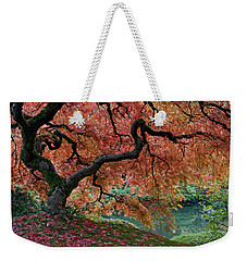 Under Fall's Cover Weekender Tote Bag by Wes and Dotty Weber