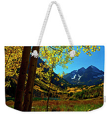 Under Golden Trees Weekender Tote Bag by Jeremy Rhoades
