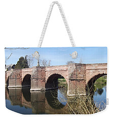 Weekender Tote Bag featuring the photograph Under The Arches by Tracey Williams