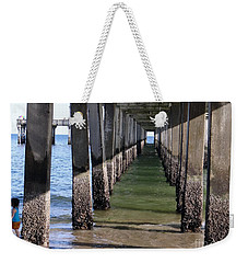 Weekender Tote Bag featuring the photograph Under The Boardwalk by Ed Weidman