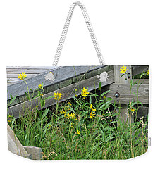 Weekender Tote Bag featuring the photograph Under The Boardwalk by Laurel Powell