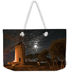 Vintage Windmill In Es Castell Villacarlos George Town In Minorca -  Under The Moonlight Weekender Tote Bag