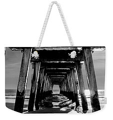 Weekender Tote Bag featuring the photograph Under The Pier by Frank Bright