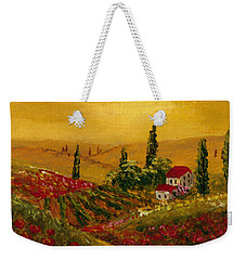 Weekender Tote Bag featuring the painting Under The Tuscan Sun by Darice Machel McGuire