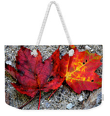 Weekender Tote Bag featuring the photograph Underfoot by Mary Sullivan
