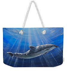 Weekender Tote Bag featuring the painting Underwater by Bozena Zajaczkowska