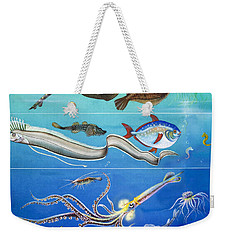 Underwater Creatures Montage Weekender Tote Bag by English School