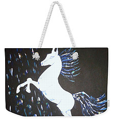 Unicorn Takes A Shower Weekender Tote Bag
