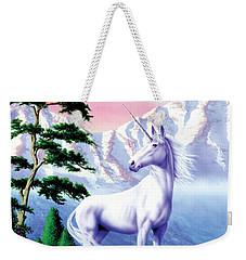 Unicorn The Land That Time Forgot Weekender Tote Bag by Garry Walton