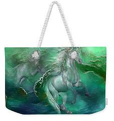 Unicorns Of The Sea Weekender Tote Bag by Carol Cavalaris