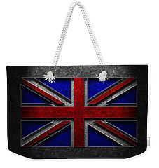 Union Jack Stone Texture Weekender Tote Bag