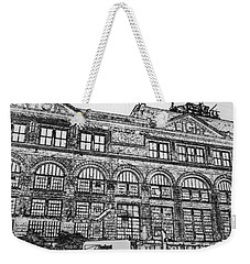 Union Light And Power In Black And White Weekender Tote Bag