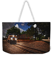 Union Pacific 7917 Train Weekender Tote Bag by Linda Unger