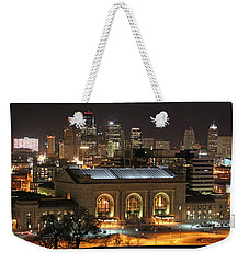 Union Station At Night Weekender Tote Bag