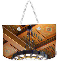 Union Station Light Fixture Weekender Tote Bag