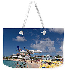 United Low Approach St Maarten Weekender Tote Bag