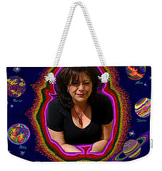 United Planets Of Mona Robin Weekender Tote Bag