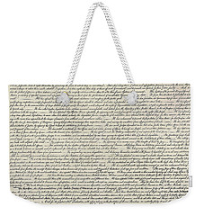 United States Bill Of Rights Weekender Tote Bag