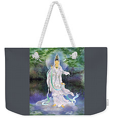 Weekender Tote Bag featuring the photograph Universal Kuan Yin by Lanjee Chee