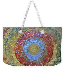 Weekender Tote Bag featuring the painting Universe by Teresa Wegrzyn