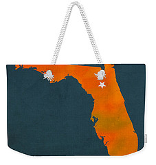 University Of Florida Gators Gainesville College Town Florida State Map Poster Series No 003 Weekender Tote Bag by Design Turnpike