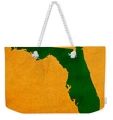 University Of Miami Hurricanes Coral Gables College Town Florida State Map Poster Series No 002 Weekender Tote Bag by Design Turnpike