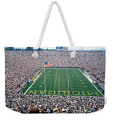 University Of Michigan Football Game Weekender Tote Bag by Panoramic Images