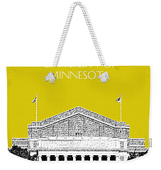 University Of Minnesota 2 - Northrop Auditorium - Mustard Yellow Weekender Tote Bag