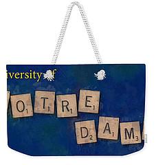 University Of Notre Dame Weekender Tote Bag
