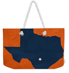 University Of Texas At San Antonio Roadrunners College Town State Map Poster Series No 111 Weekender Tote Bag by Design Turnpike