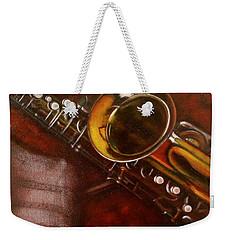 Unprotected Sax Weekender Tote Bag