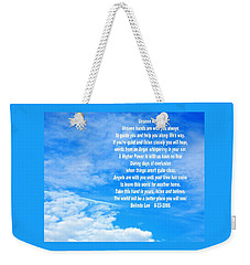 Weekender Tote Bag featuring the photograph Unseen Hands by Belinda Lee
