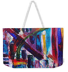 Weekender Tote Bag featuring the painting Untitled # 9 by Jason Williamson
