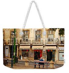 Lisbon Street Scene Weekender Tote Bag