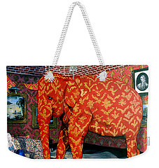 Weekender Tote Bag featuring the painting Untitled by Tom Roderick