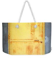 Weekender Tote Bag featuring the photograph Unused Door by Clare Bevan
