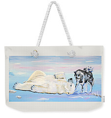 Unusual Buddies  Must Open Weekender Tote Bag by Phyllis Kaltenbach