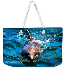 Weekender Tote Bag featuring the photograph Up Close And Personal by Kristine Merc