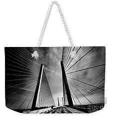 Weekender Tote Bag featuring the photograph Up N Over by Robert McCubbin