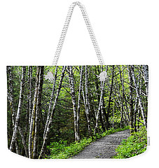 Weekender Tote Bag featuring the photograph Up The Trail by Cathy Mahnke