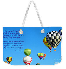 Up Up And Away Poetry Photography Weekender Tote Bag